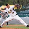 050117  Wesley Bunnell | Staff<br /> <br /> New Britain Bees vs the Somerset Patriots on Monday evening. Eric Fornataro (23)