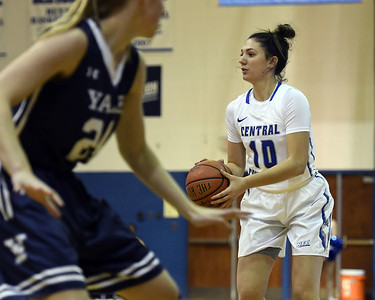 12/9/2017 Mike Orazzi   Staff CCSU's Andi Lydon (10) during Saturday's women's basketball game with Yale University in New Britain.