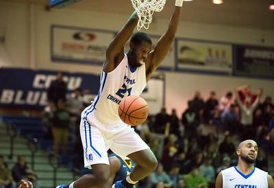 11/30/17   Wesley Bunnell   Staff  CCSU Men's Basketball defeated North Carolina A&T on Thursday evening at Derrick Gymnasium in New Britain. Joe Hugley (21).