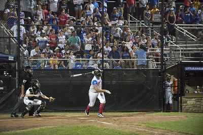08/09/19  Wesley Bunnell   Staff  New Jersey defeated Washington, DC on Friday August 9, 2019 in a Little League Baseball Eastern Regional Tournament game with New Jersey heading to the final on Saturday to face New York.  Family and fans on their feet during Yady Mateo's (28) at bat.