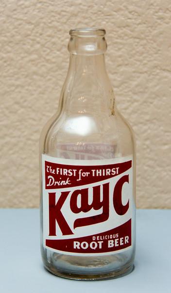 Kay-C Root Beer 12 Oz. Bottle - Kenwood Club Bott. Co. - East St. Louis, ILL