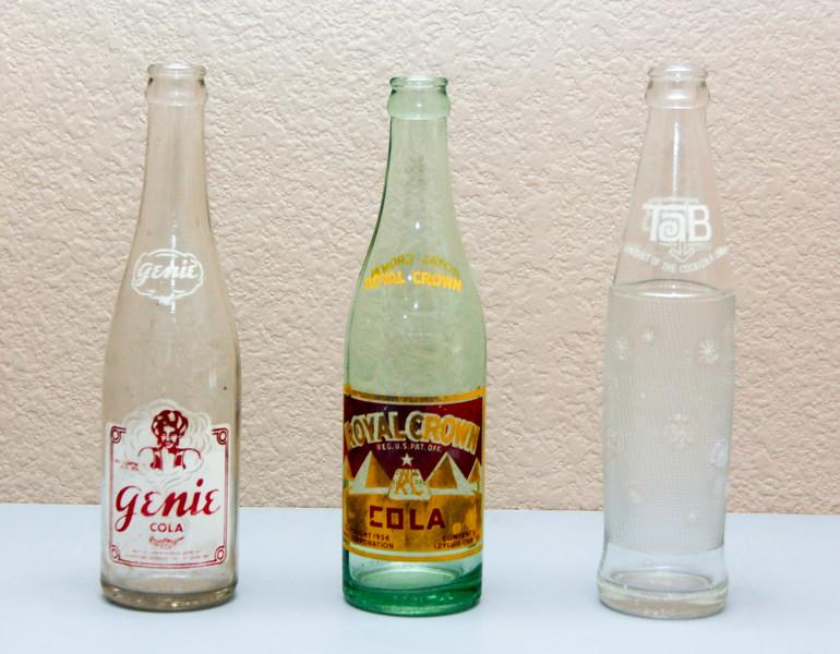 Various Cola Bottles