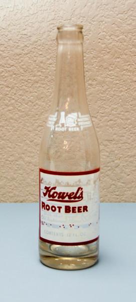 Howel's Root Beer Bottle (12 Oz.)  Howel's Root Beer Bottling Company - Troy, Illinois