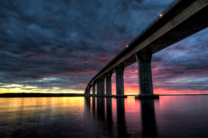 Jamestown Bridge Sunset