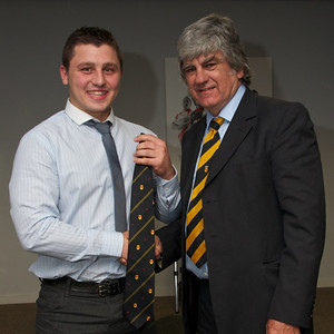 Dale Rogers 20 appearances tie. Presented by Will Godfrey.