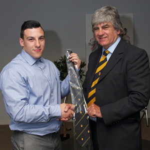 Dom Franchi 20 appearances tie. Presented by Will Godfrey.