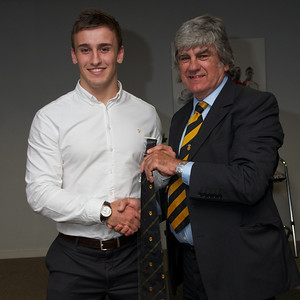 Ollie Griffiths - 20 appearances tie. Presented by Will Godfrey.