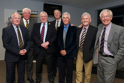 David Watkins, Brian Price, Dennis Gethin (WRU president), Stuart Watkins, Dick Uzzell, Brian Jones & Alan Thomas.