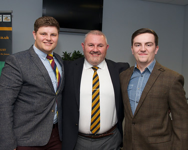 Master of ceremonies Alun Williams with his two sons.