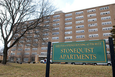 Saratoga Springs Housing Authority Stonequist Apartments. Photo Erica Miller 1/30/12 news_Stonequist_Tues