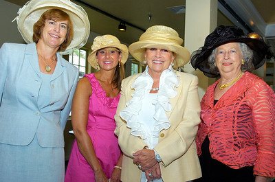 (L-R) Laura Jennison, Julie Palner, Jo Ann Oreffice and Terry Calkins at the National Museum of Dance for the Fashionable Fillies designer sale and luncheon to benefit the Museum of Dance, Saratoga Hospital, Saratoga Center for the Family, the Jockey Club Foundation and the State Race Track Chaplaincy. Photo Erica Miller 8/3/10 fea_FilliesLunch2_Fri