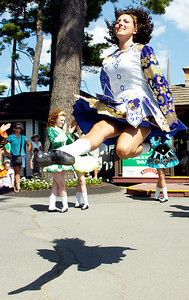 Dancers performed from the Boland School of Irish Dance, in Troy, for audiences at grandstands at the Saratoga Race Course for an Irish theme day. Photo Erica Miller 7/29/10 news_Irishdance2_Fri