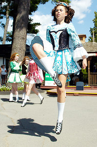 Dancers performed from the Boland School of Irish Dance, in Troy, for audiences at grandstands at the Saratoga Race Course for an Irish theme day. Photo Erica Miller 7/29/10 news_Irishdance3_Fri