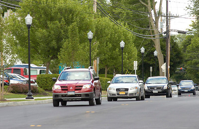 Newly paved Church St. waits to be striped in front of Saratoga Hospital. Ed Burke 6/30/10
