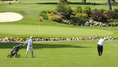 View of the green on hole 1 at Ballston Spa Country Club. Ed Burke 7/30/10