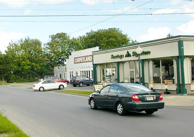 Church St. businesses Saratoga Signature and Carpetland. Ed Burke 6/30/10