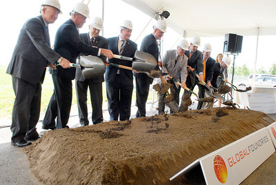 GlobalFoundries in the Saratoga Technology and Energy Park ground breaking ceremony of their newest administrative building on FAB8 campus. Photo Erica Miller 6/30/11 news_GloFoAdmin2_Fri