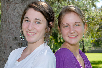 Toni Nastasi, 17 year-old (left), and Deirdre Howard, 16 year-old (right), who are traveling to Uganda during the summer. Photo Erica Miller 6/30/11 news_GirlsTravel_up