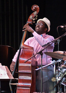 Solomon Dorsey of the Trio of Oz performs on the mainstage at SPAC Sunday afternoon during the 35th annual Jazz festival. Photo Eric Jenks 7/1/12