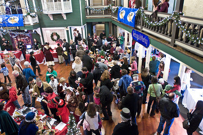 Hundreds of shoppers attended Longfellow's Dickens Village Festival Sunday. Attendees could look for gifts in a faux English market, visit with Santa, eat Victorian styled food and have a good time. Photo Eric Jenks 11/28/10