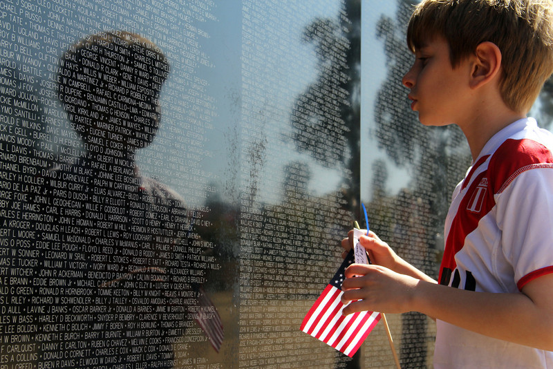 The Vietnam War Wall Memorial came to Tri-City park in Placentia Ca –