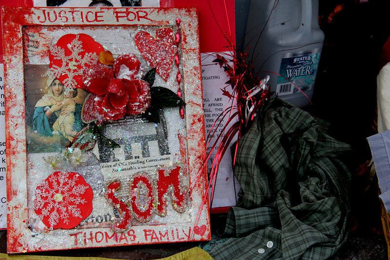 Kelly Thomas Murder Memorial.  Fullerton Ca.  (Police Killing)
