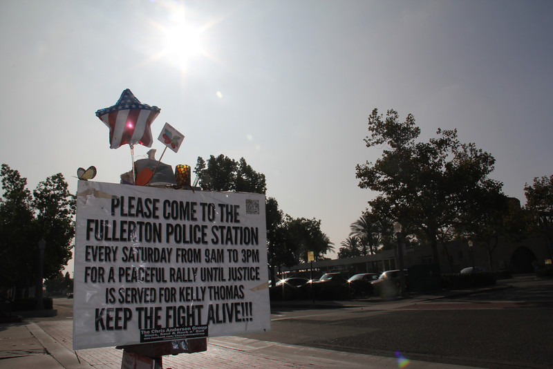 """From Wiki: <a href=""""http://en.wikipedia.org/wiki/Death_of_Kelly_Thomas"""" rel=""""nofollow"""">en.wikipedia.org/wiki/Death_of_Kelly_Thomas</a> On July 5, 2011, at about 8:30 PM, officers of the Fullerton Police Department responded to a call of someone vandalizing cars near the Fullerton Transportation Center. While investigating, they encountered the shirtless and disheveled Thomas and attempted to search him. According to statements given by the officers, Thomas was uncooperative and became physical when they attempted to search him, so backup was called. The officers then repeatedly shocked Thomas with Tasers, beat him with the butts of the Tasers and flashlights, and slammed him into the ground.[5] A video of the event surfaced, and Thomas can be heard repeatedly screaming in pain while officers tasered him (up to five times according to a witness statement) in the video, and screaming """"Dad! Dad!"""".[6] Six officers were involved in subduing Thomas, who was unarmed and had a history of mental illness. Thomas was initially taken to St. Jude Medical Center in Fullerton but was transferred immediately to the UC Irvine Medical Center with severe injuries to his head, face, and neck."""