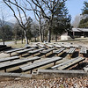 Globe/T. Rob Brown<br /> An outdoor meeting area that once used to be CCC barraks at Roaring River State Park Thursday, Feb. 16, 2012, at the historic park near Cassville.
