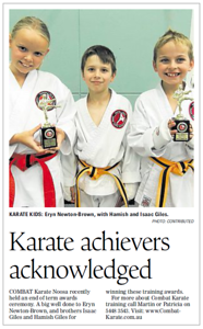 Combat Karate Trophy Winners Noosa