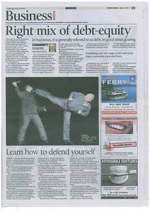 Learn How To Defend Yourself - Noosa News Business Extra, March 2011. Read about why even black belt martial arts training may not save you in a critical situation.