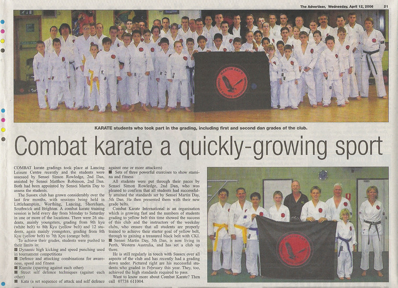 """Combat Karate Training United Kingdom New Clubs"""