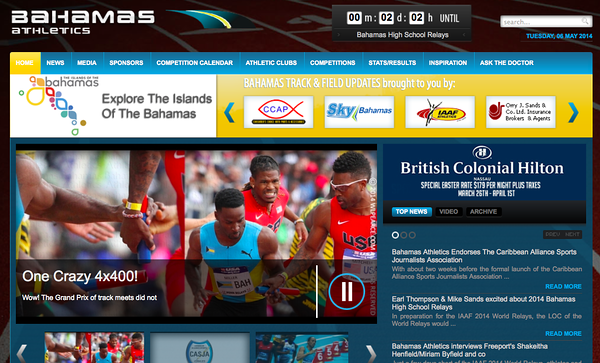 wlpearce.com featured on Bahamas Athletics