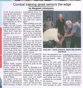 Sunshine Coast Seniors - September 2010 - Combat training gives seniors the edge.