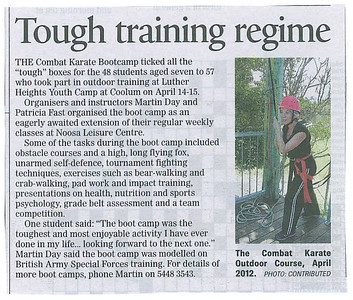 Combat Karate Self Defence Boot Camp April 2012