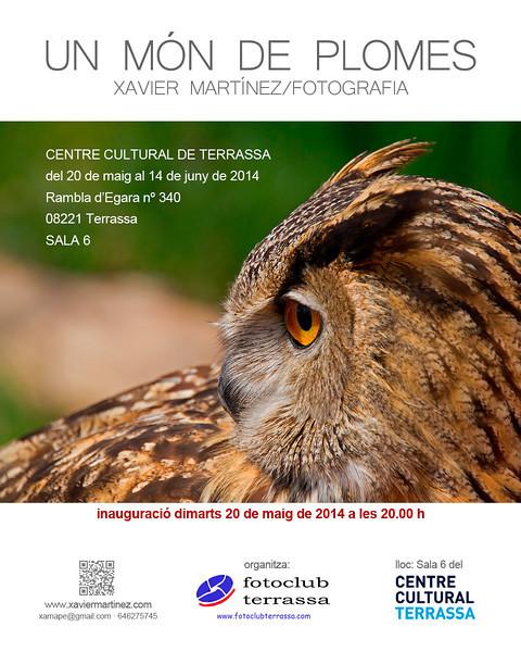 """<span style=""""color:#CDC9C9""""><strong>20 Mayo 2015 · 20th May 2015<br> Exposición """"UN MÓN DE PLOMES"""" en el Centre Cultural de Terrassa</strong></span><br>  <span style=""""color:#EED5B7"""">""""UN MÓN DE PLOMES"""" exhibition in the Centre Cultural de Terrassa </span>"""