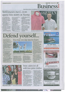 Noosa News Business Extra - February 1st, 2010 Combat Karate SD Training