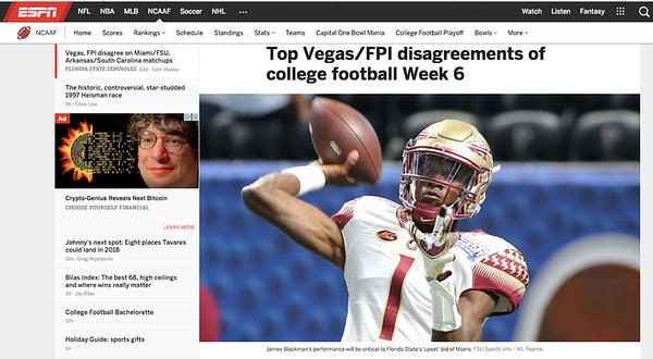 wlpearce.com on ESPN.COM