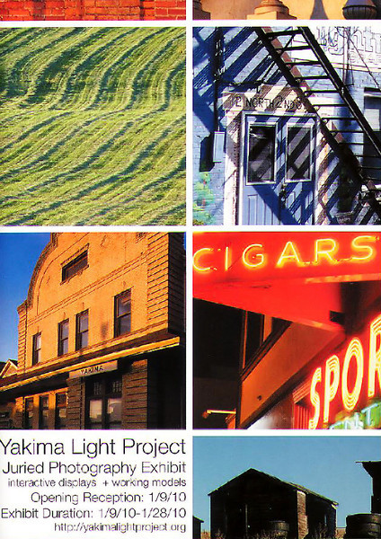 "The Yakima Light Project Exhibition opened at the Peggy Lewis Gallery.   Two of Tim's photos won special awards: ""<a href=""http://www.valleysoftheyakima.com/Valleys-of-the-Yakima/Spring/6647404_DnydA#498056577_DaCio"" target=""_blank"">Old Northern</a>"" won the Capital Theater Award and ""Sunset Over Rattlesnake Hills"" won the Yakima Symphony Orchestra Award."