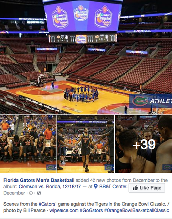 wlpearce.com on Gator Men's Basketball FB Page