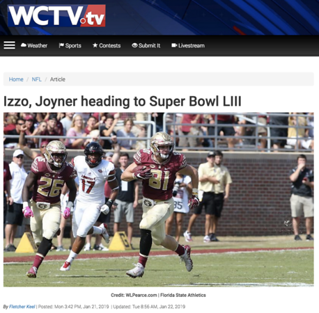 wlpearce.com going to the Superbowl with WCTV.TV