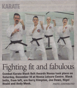 Combat Karate New Black Belts 2013!