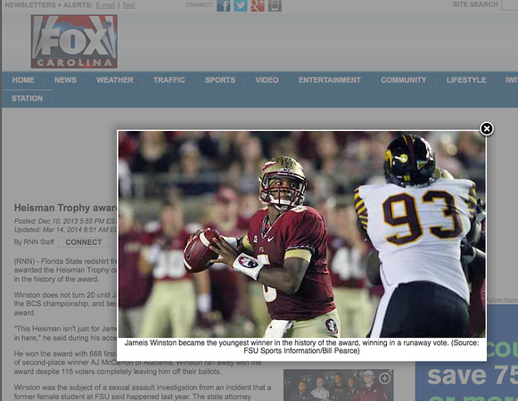 wlpearce.com on Fox Carolina