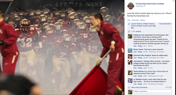 wlpearce.com on Florida State Seminoles Football FB Page