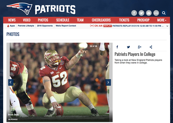 wlpearce.com on Patriots.com
