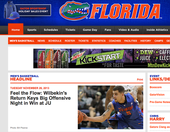 wlpearce.com on Gatorzone.com
