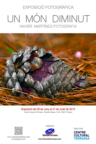 "<span style=""color:#CDC9C9""><strong>29 Juny 2015 · <span style=""color:#EED5B7"">29th June 2015<br> <span style=""color:#CDC9C9"">Exposición ""UN MÓN DIMINUT"" en el Fotoclub Terrassa (Centre Cultural de Terrassa)<strong></strong></span></span></strong></span><strong><strong><br>  <span style=""color:#EED5B7"">""UN MÓN DIMINUT"" exhibition in the Fotoclub terrassa (Centre Cultural de Terrassa)</span></strong></strong>"