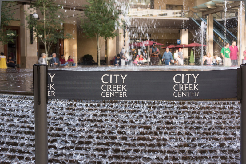 City Creek Center at the main fountain by WET Design of Las Vegas in Salt Lake City - JSturr Photographer