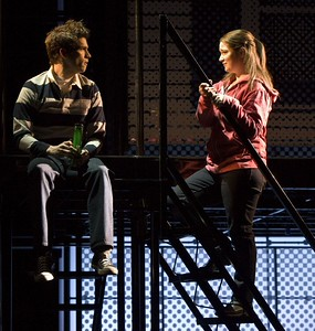 "Preston Sadlier and Emma Hunton in the national touring production of ""Next to Normal."" Photo by Craig Schwartz."