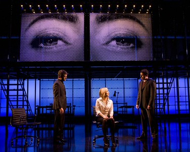"Jeremy Kushnier, Alice Ripley and Asa Somers in the national touring production of ""Next to Normal."" Photo by Craig Schwartz."