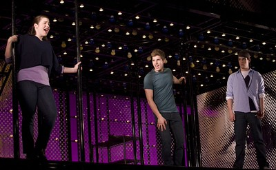 "Emma Hunton, Curt Hansen and Preston Sadlier in the national touring production of ""Next to Normal."" Photo by Craig Schwartz."